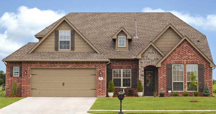 Beautiful home with a new garage door