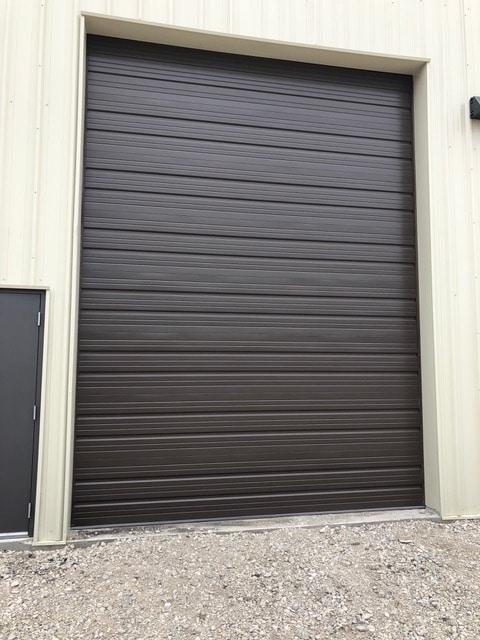 black door, front