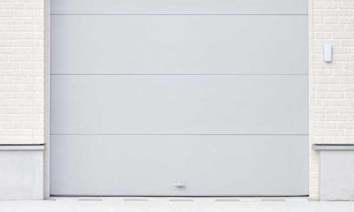 White overhead garage door