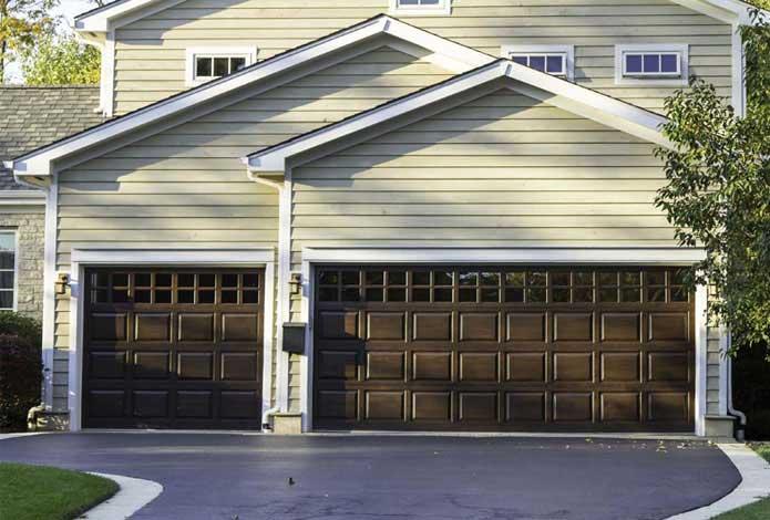 Double garage doors