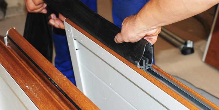 Repairing a garage door