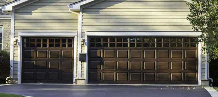 Double brown garage doors