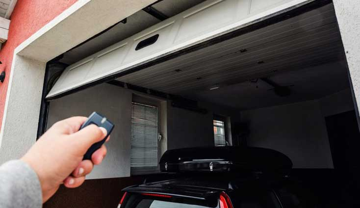 Using a remote to open a garage door