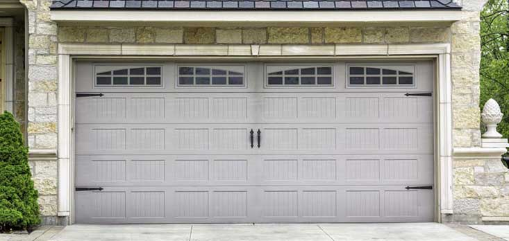 Exterior of garage door